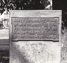 289. Placa comemorativa em Xavantina.