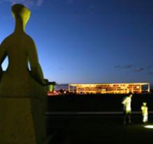 A estatua da Justiça e o Palácio do Planalto, OrlandoBrito